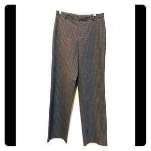 Gray Striped Trousers Size 6
